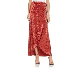 Band of Gypsies Wrap Skirt Crushed Velvet